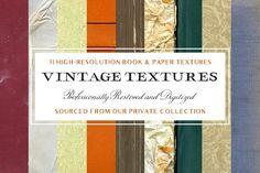 31 Vintage Book & Paper Textures  @creativework247