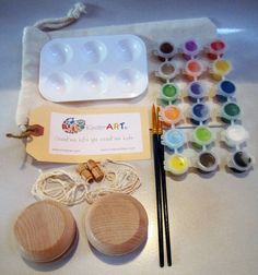 DIY Wooden Yo-Yos and Paint Kit in a Bag Arts and Crafts for Kids Stocking Stuffer $18.50