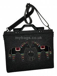 "GOSHICO embroidered 15.6"" laptop bag GODDESS http://mybags.co.uk/goshico-embroidered-15-6-laptop-bag-goddess.html"