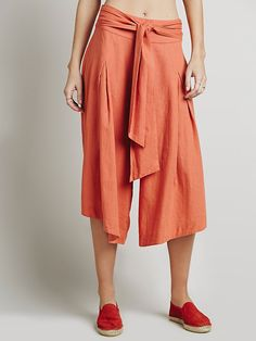 Free People Summer Breeze Linen Gauchos at Free People Clothing Boutique