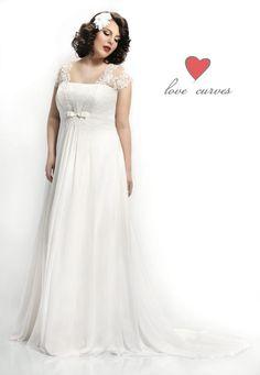 Svadobné šaty pre moletky až do veľkosti 60, Svadobný salón Weda v BA Formal Dresses, Wedding Dresses, Wedding Styles, One Shoulder Wedding Dress, Salons, Empire, Curves, Model, Fashion