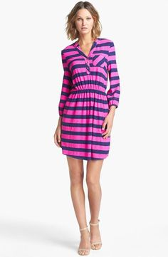 Sweet stripes in pink & navy.