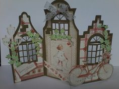 Duth card art house  with maja design summer time paper made by cathy