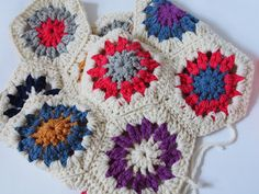 meet me at mikes : crocheted hexagons