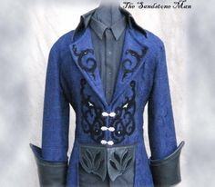 Steampunk Wedding Tuxedo Style frock coat- Gothic Pirate via Etsy