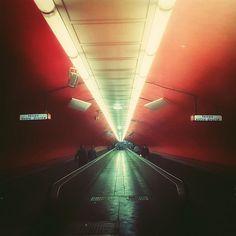 Red Parisian Subway (Station Auber)