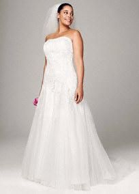 Wedding Dresses with Color Accents by David's Bridal