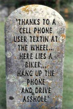 Cell Phones, death of a Biker!