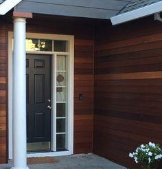 Batu Hardwood Siding 1x8 Prefinished Hardwood, Hardwood Decking, Exterior Wood Stain, Exterior Siding, Cedar Siding, Wood Siding, Composite Siding, Siding Options, Properties Of Materials