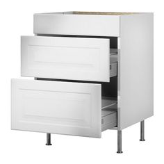 FAKTUM Base cabinet with 3 drawers IKEA The drawers close slowly, quietly and softly thanks to the built-in dampers.