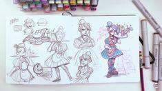 Sketchbook Drawings, Cute Drawings, Art Sketches, Marker, Illustration Art Drawing, Learn Art, Sketchbook Inspiration, Cartoon Art Styles, Character Drawing