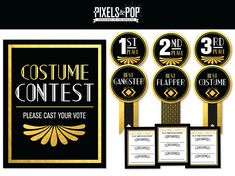 HEY THERE!  Our Printable Awards & Voting Ballots will help you create a Roaring good time at any 1920s Theme Party including; A New Years Eve Bash or 30th Birthday Party!! They can be easily printed using a standard desktop printer on 8.5 x 11 (letter size) paper, or can be printed at your local print shop such as Staples or Kinkos. Your purchase includes easy assembly instructions, and a high-quality printable PDF file.  Please note: This listing is for a DIGITAL download for you to pri...