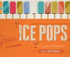 This is awesome! Kelli Anderson designed the infographics for a bright orange popsicle solar powered truck distributing free popsicles in New York City.