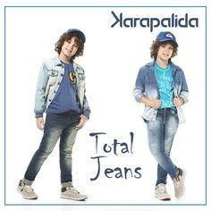 Em suas diversas variações, lavagens diferenciadas e efeitos modernos, o jeans da Karapalida enche de estilo o look dos garotos!  #jeans #denim #totaljeans #karapalida #inverno2016