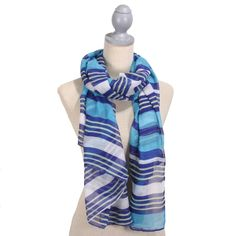 This organic-cotton scarf comes in a graphic print. Light weight scarf. Perfect for any season or any outfit! FREE SHIPPING www.thepreppypair.com