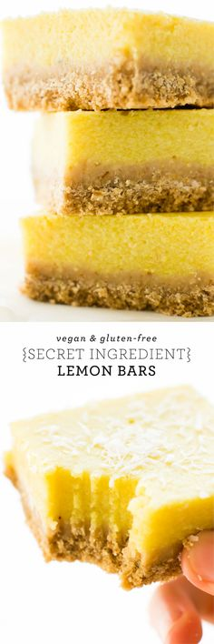 With a crispy oat cracker crust and a luscious veggie-laced lemon filling, these tasty Vegan Lemon Bars are like no citrus dessert you've had before! via @Natalie | Feasting on Fruit