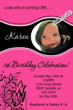 Flower Birthday Invitations - ANY COLOR SCHEME -  Get these invitations RIGHT NOW. Design yourself online, download and print IMMEDIATELY! Or choose my printing services. No software download is required. Free to try!