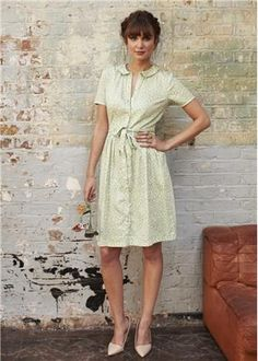 People Tree | Edith Blossom Collar Dress in Green