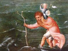 Joachim Patinir, circle of, St Christopher in a Landscape, early century, detail Tarot, Famous Saints, Catholic Religion, Saint Christopher, Museum Of Fine Arts, 16th Century, Renaissance, Medieval, Images