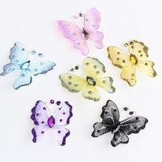 """2"""" Assorted Nylon Artificial Butterflies - 24pcs - $3.99"""