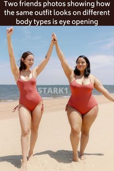 Body shaming is real and it's a thing a lot of people have to deal with every single day. It doesn't pick a specific subject. Whether you're skinny, plus-sized, small or tall, you're bound to experience it at some point in your life. To help put an end on this issue, Maria Castellanos and Denise Mercedes are using the power of social media to open people's eyes and break the rules of society. With two different body types, they post videos and pictures showing off their similar looks. They… Friend Photos, Wtf Funny, Funny Facts, Weird Facts, Hilarious, Body Types, Beautiful Eye Makeup, Beautiful Eyes, Beautiful World