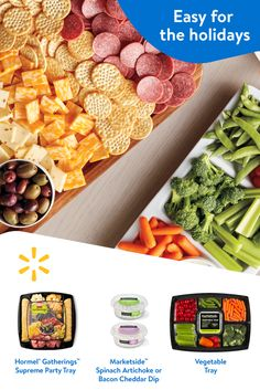 Kick off your holiday meal with these easy appetizer ideas. Check out Walmart's weekly ad to find easy ideas to make your holiday party a classic. Appetizer Ideas, Appetizer Recipes, Snack Recipes, Appetizers, Cooking Recipes, Party Dishes, Finger Foods, Love Food, Holiday Recipes