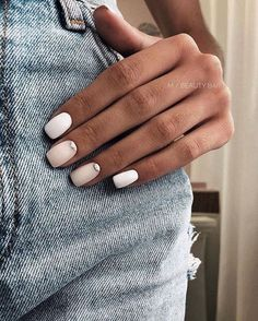 Nageldesign - Nail Art - Nagellack - Nail Polish - Nailart - Nails nagel design If you have been int Perfect Nails, Gorgeous Nails, Pretty Nails, Cute Easy Nails, Nail Design Glitter, Nails Design, Nail Polish, Nail Manicure, Neutral Nails