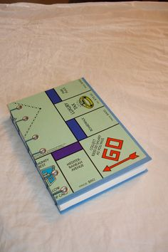 Monopoly Book  Coptic Binding Hand Made Upcycled Board by ArsVerbi, $21.00