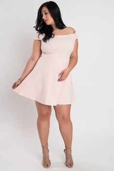Off Shoulder A-Line Dress – Sexy Plus Size Women Clothing, New Designer Looks, Jeans, Tops, Jackets, Shoes and Dresses