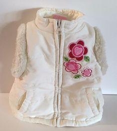 e14b41cae Nannette Baby Infant Girl Vest Size 3/6 Month Infant White Flowers Zip  Front #Nannette #Vest #Everyday #designsbym #eBay #shopsmall