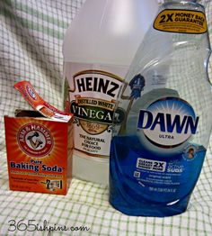 Floors: 1/4 c vinegar, 1 tsp dawn, 1/4c washing baking soda, 2 gallons hot water