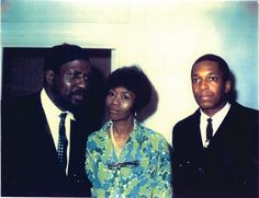 Thelonious Monk with his wife, Nellie and John Coltrane. Late 1950s