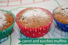 Carrot and Zucchini Muffins - these are school lunch favourites around here, I think it is all the yummy spices!
