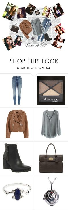 """""""goodbye elena gilbert outfit"""" by elena-light178 ❤ liked on Polyvore featuring River Island, Rimmel, H&M, Chicwish, Timberland and Mulberry"""