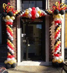 Bf Ballon Arch, Balloon Backdrop, Balloon Columns, Ballon Decorations, Casino Party Decorations, Balloon Centerpieces, 90th Birthday, Birthday Parties, Love Balloon
