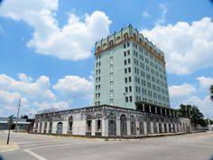 The Hotel Grand in Lake Wales, Fl. This hotel is undergoing a major renovation, when they are finished it will have condo's on the upper floors and stores on the lower floors. It was something to see in it's hay day!
