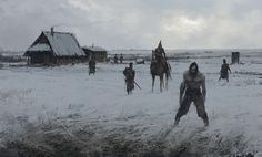 you shouldn't be here..., Jakub Rozalski on ArtStation at https://www.artstation.com/artwork/drX13