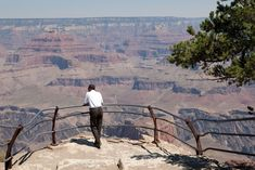Barack Obama takes in the beauty of the Grand Canyon. Photo Credit: The White House  via @AOL_Lifestyle Read more: http://www.aol.com/article/news/2016/10/20/44-iconic-images-of-barack-obamas-tenure-as-president/21588007/?a_dgi=aolshare_pinterest#fullscreen