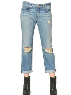 Rag&bone Jean - Destroyed Washed Denim Boyfriend Jeans