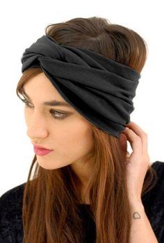 finding this turban headband has been a dream come true.even hippie hair can look chic. Turbans, Turban Headbands, Headscarves, Head Wrap Headband, Black Headband, Outfit Essentials, Hippie Hair, Bad Hair Day, Big Hair