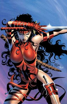 sexy marvel women | Elektra Mike Deodato Jr.1