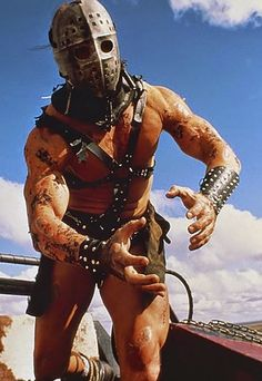 Kjell Nilsson as Humongous in The Road Warrior 80s Movie Characters, Sci Fi Movies, Chernobyl, Mad Max Tattoo, Mad Max Mel Gibson, Mad Max 2, The Road Warriors, Pop Culture References, Adventure Movies