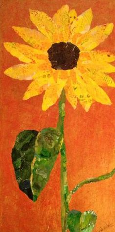 See this image on Sharon Krulak: 12 x 24 torn paper collage, mixed media. $295.