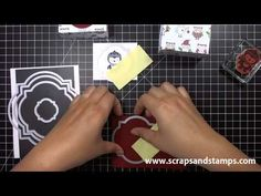 bag out of 5 x 9 piece of paper Stampin' Up! Tutorial - 2012 Christmas Series #6 -