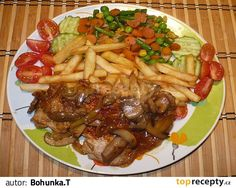 Bylo to moc dobré, brambůrky z remosky. Slovakian Food, Kung Pao Chicken, Bon Appetit, Food And Drink, Cooking Recipes, Beef, Ethnic Recipes, Petra, Dish