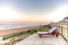 """Self-catering holiday accommodation in Umhlanga Rocks. Click on pic to see more. """"The Beach House"""" Umhlanga is a large 5 bedroom, 5 bathroom family home situated only 30 meters away from the pristine Indian Ocean. It is one of the few guest houses in South Africa that can boast sea views from every room. Self Catering Cottages, Guest Houses, Kwazulu Natal, Holiday Accommodation, Outdoor Furniture, Outdoor Decor, Sun Lounger, South Africa, Beach House"""