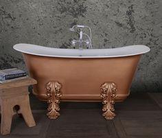 Empire Cast, Cast Iron Bath, Bath Paint, Roll Top Bath, Acanthus, Metallic Paint, Clawfoot Bathtub, Baths, Top Colour