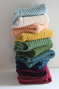 knitted washcloths (another situation where I can't find the original source, sorry)