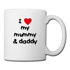 Cool Love Mummy And Daddy Ceramic Coffee Mug, Tea Cup | Best Gift For Men, Women And Kids - 13.5 Oz, White ** Additional details at the pin image, click it  : Cat mug