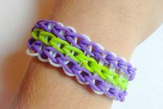 Rainbow Loom Triple Single Rubber Band Bracelet by BCsBracelets